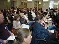 Zuhörer bei der Ergebniskonferenz